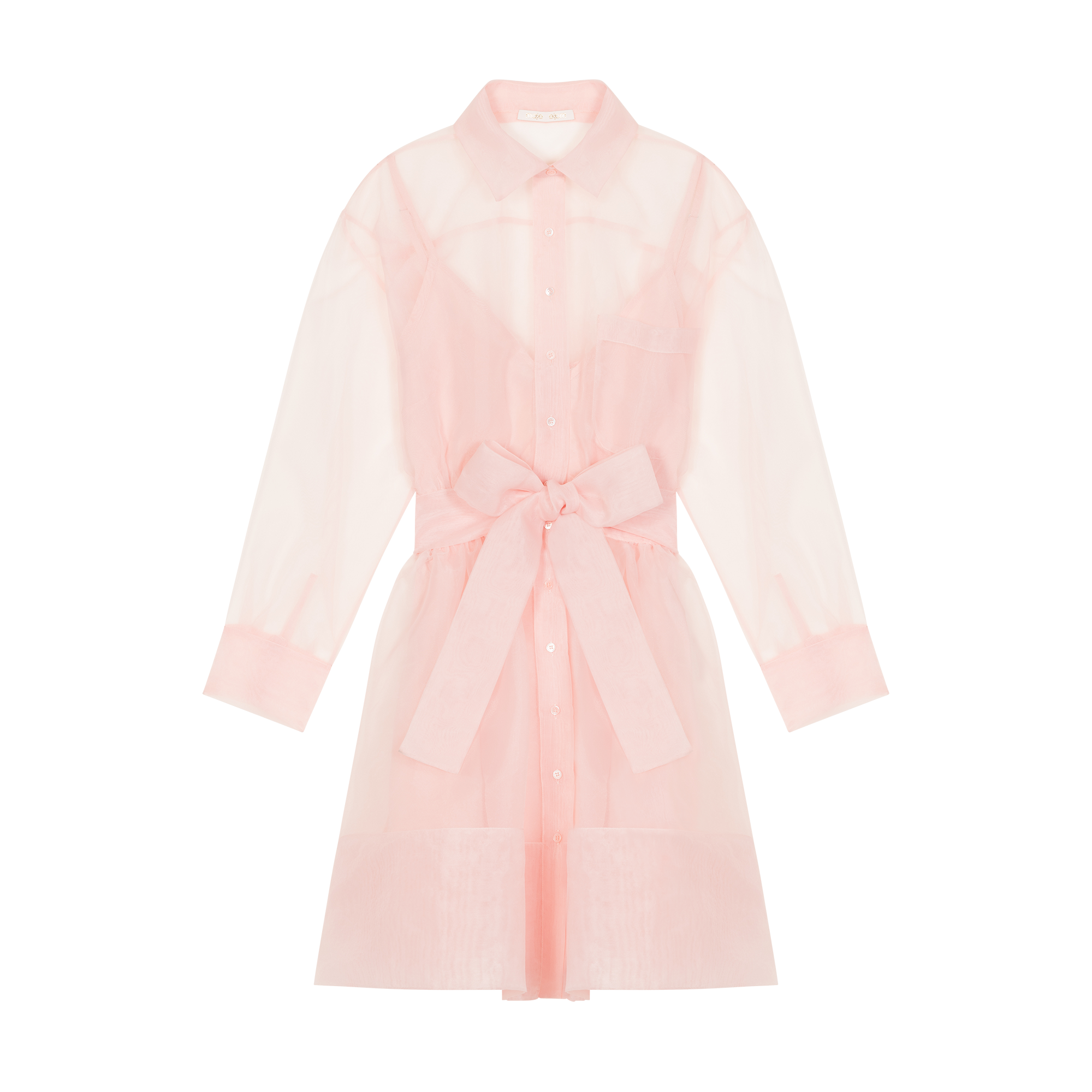 Organza shirt dress - Dresses - MAJE